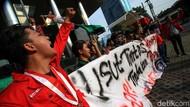 Aksi Mahasiswa Dukung Penyelesaian Kasus Korupsi