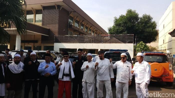 Perwakilan Massa Aksi Demo Sukmawati-Gus Muwafiq Diterima Bareskrim Polri. (Foto: Farih/detikcom)