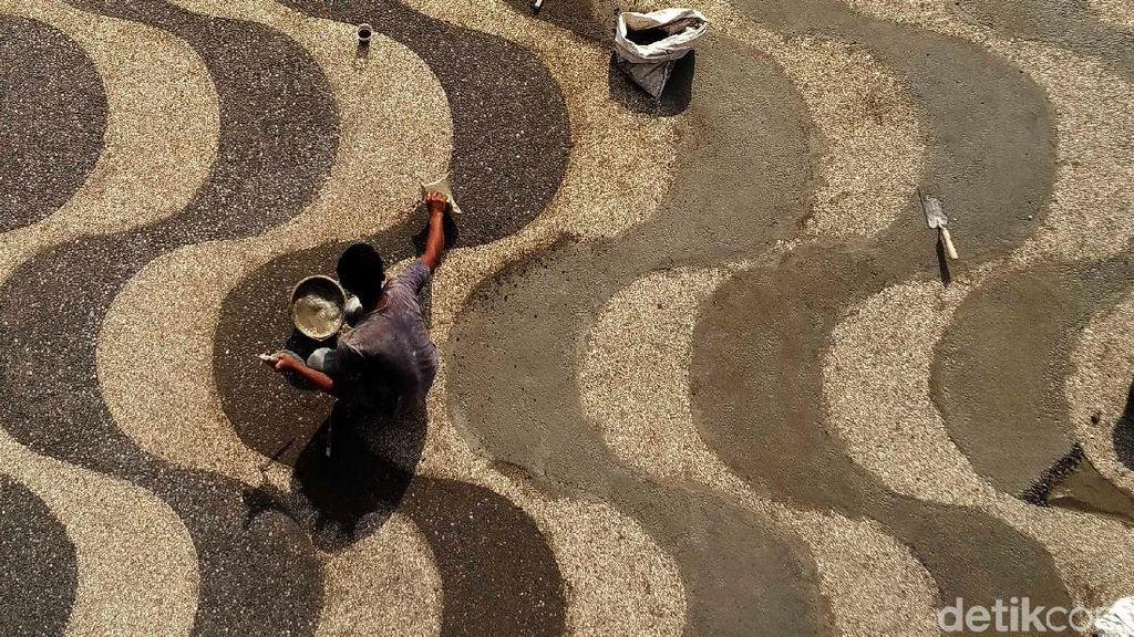 Melihat Kondisi Terkini Proyek Penataan Pantai Pangandaran