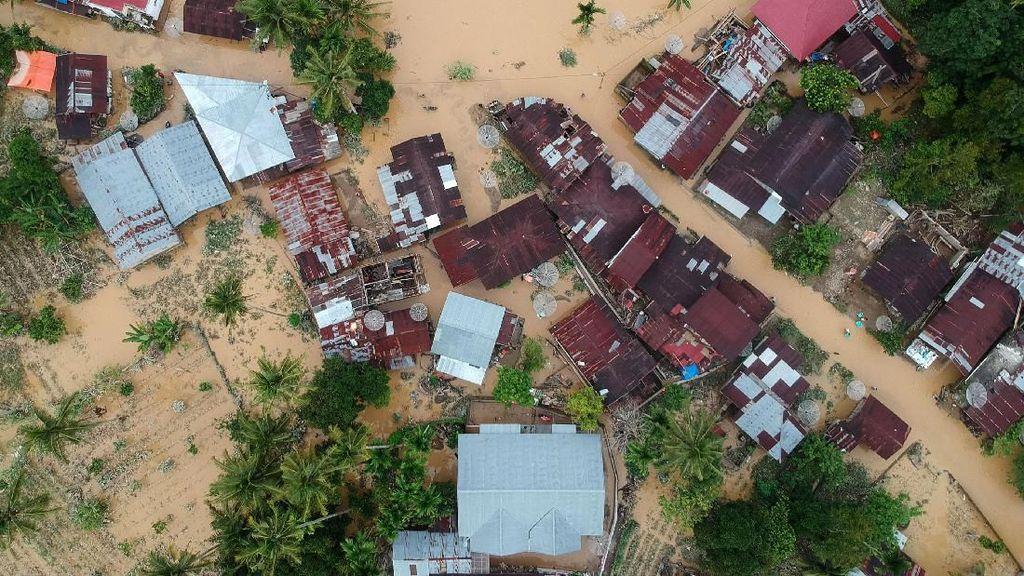Penampakan Banjir Solok Selatan dari Udara