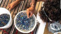 Mikroplastik yang terjaring