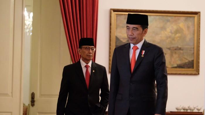 Foto: Presiden Joko Widodo dan Wiranto (Andhika/detikcom)