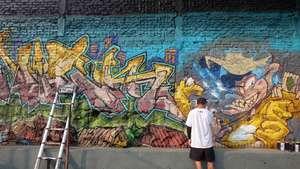 Mural-mural Hasil Para Seniman di Bali Street Art Festival 2016