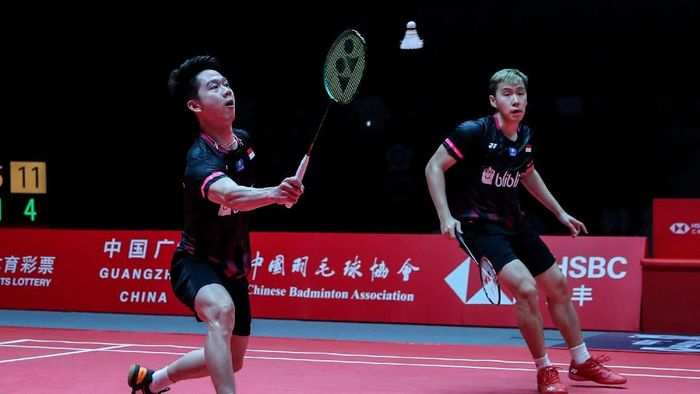 Kevin Sanjaya/Marcus Fernaldi Gideon gagal juara di Malaysia Masters 2020 (dok. Humas PBSI)