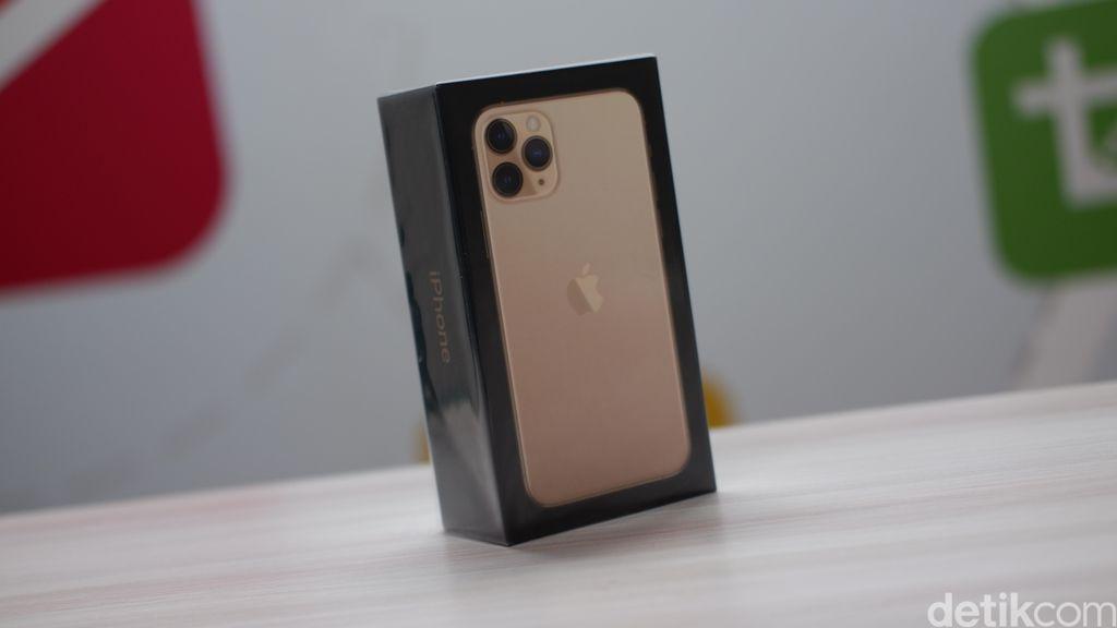 Varian yang detikINET unboxing adalah iPhone 11 Pro Gold 64 GB. Foto: Adi Fida Rahman/detikINET