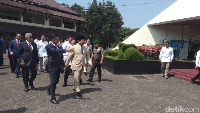 Menhan Prabowo Subianto (Foto: Eko Susanto-detikcom)