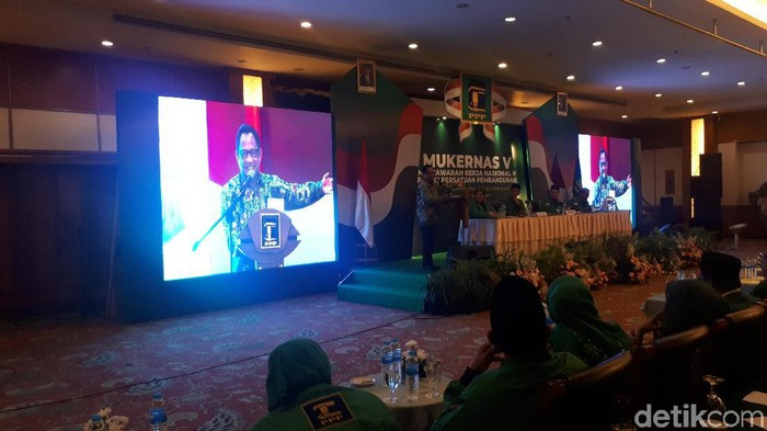 Foto: Mendagri Tito Karnavian di Mukernas ke-V PPP. (Faiq-detikcom)