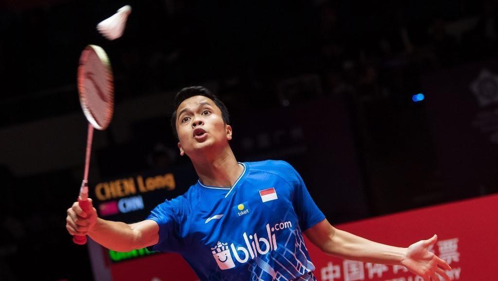 Menang Dua Gim Langsung atas Chen Long, Anthony ke Final BWF Finals