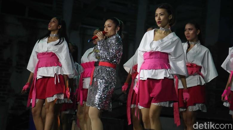 Siti Badriah tampil di HUT Transmedia Foto: Pradita Utama/detikHOT