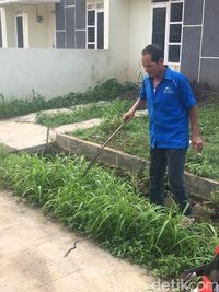 Sekuriti Villa Citayam, Bojonggede, Bogor, menemukan anak ular kobra.