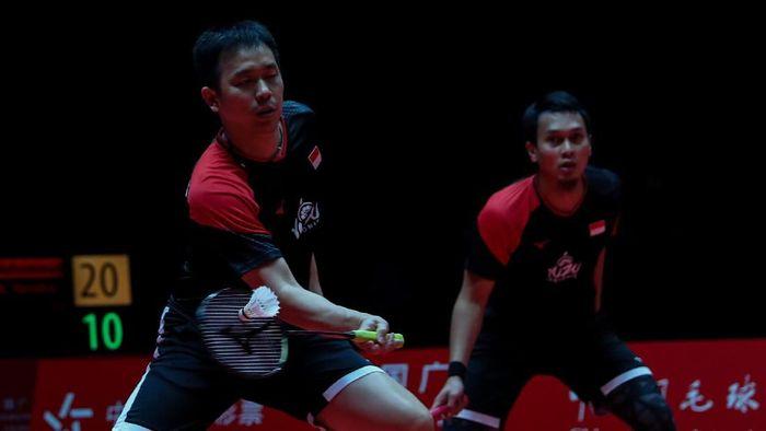Jelang final BWF Finals, Hendra Setiawan/Mohammad Ahsan superior atas Hiroyuki Endo/Yuta Watanabe. (Foto: Humas PBSI)