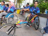 Pemenang Kategori Wheelchair BPJAMSOSTEK Relay Marathon