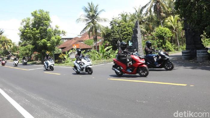 Touring Honda PCX di Bali, Minggu (15/12/2019)