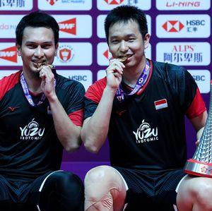 Selamat! Hendra/Ahsan Juarai BWF World Tour Finals 2019