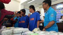 BNN Sumsel Tangkap 3 Kurir, 36 Kg Sabu-32 Ribu Pil Ekstasi Diamankan