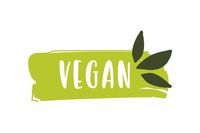 Contoh Logo dengan judul 'Vegan'.
