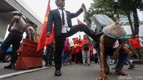 Aksi Teatrikal Warnai Demo BPJS di Kemenkes