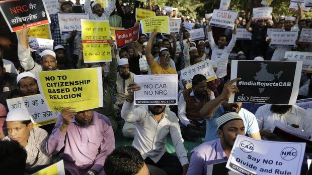 Aksi warga menolak undang-undang kewarganegaraan di India