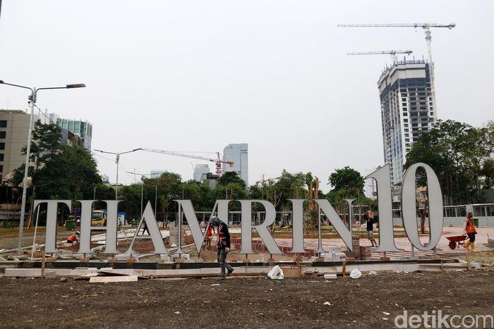 Begini penampakan terkini proyek pembangunan pusat kuliner di kawasan Thamrin, Jakarta.