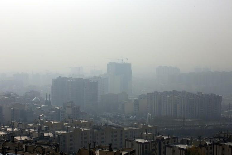 Ilustrasi polusi udara Foto: AFP Photo/STR
