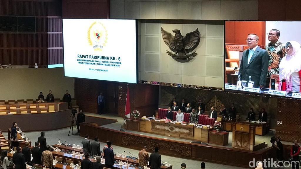 218 Anggota DPR Tak Hadiri Paripurna Pengesahan Prolegnas 2020-2024