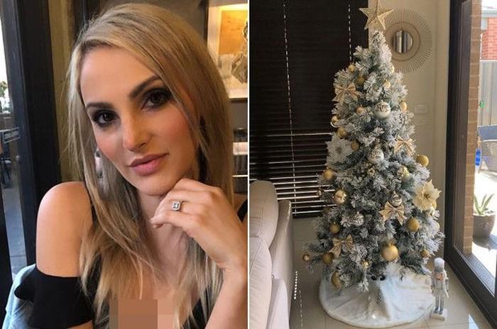 Veronika Gentile menawarkan jasa menghias pohon Natal. Foto: Instagram