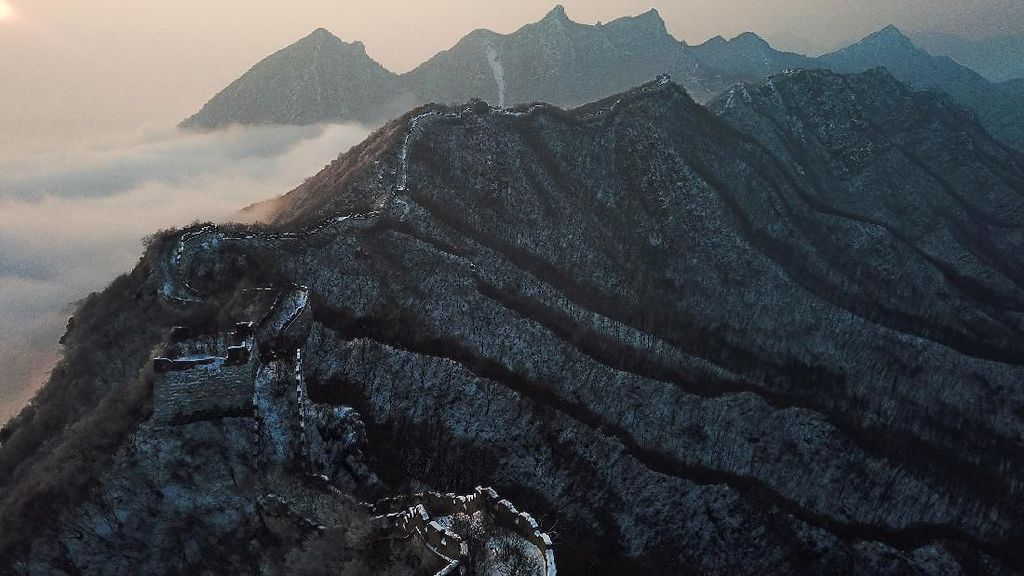 Terpesona Pemandangan Memukau Tembok Besar China dari Jiankou