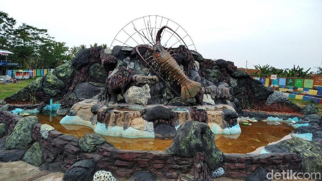 Ada Lobster Jumbo Bisa Diajak Foto-foto di Pangandaran
