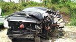 Potret Mobil Gus Hilman yang Ringsek di Tol Pandaan-Malang