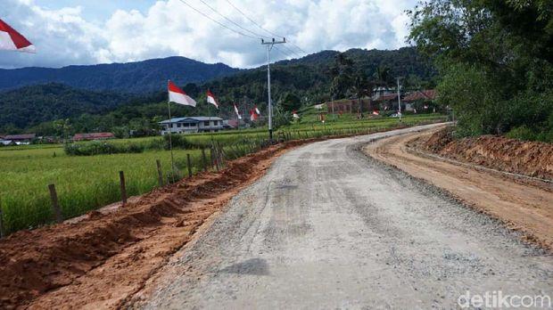 Jalan Perbatasan RI-Malaysia di Nunukan, Kalimantan Utara