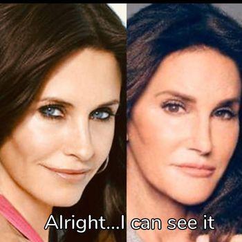 Reaksi Tak Terduga Courteney Cox Dibilang Mirip Caitlyn Jenner