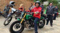 Ini Motor Custom Jokowi saat Cek Jalan Perbatasan RI-Malaysia