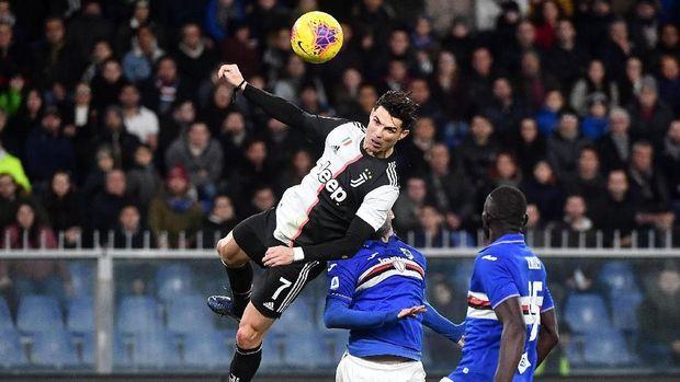Peluang Ronaldo Cetak Gol Sundulan di Piala Super Italia