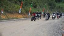 Kunker ke Perbatasan RI-Malaysia, Jokowi Naik Motor Custom