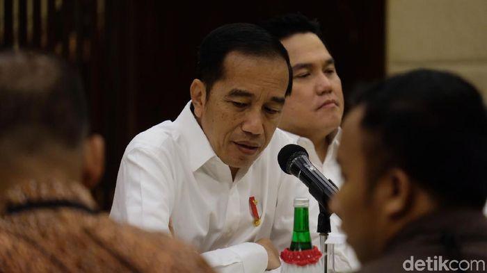 Jokowi Colek Erick Thohir Soal Proyek BUMN. Foto: Andhika Prasetia/detikcom