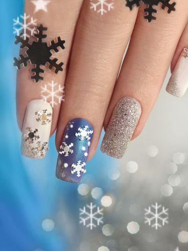 15 Inpirasi Nail Art Natal Paling Cantik dan Lucu