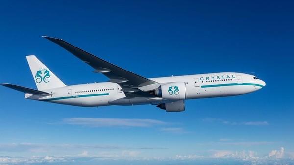 Perusahaan Crystal Cruises kini mengepakkan sayapnya ke udara menggunakanpesawat Boeing 777 (Foto: CNN)
