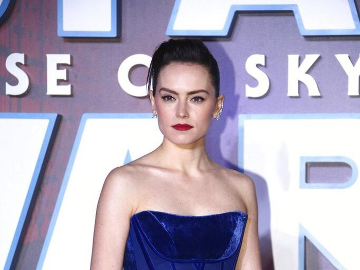 Actress Daisy Ridley poses for photographers upon arrival at the premiere for the film Star Wars: The Rise of Skywalker, in central London, Wednesday, Dec. 18, 2019. (Photo by Joel C Ryan/Invision/AP)