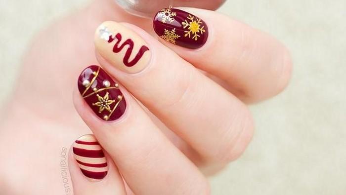 Inspirasi Nail Art Natal / Foto: dok. countryliving