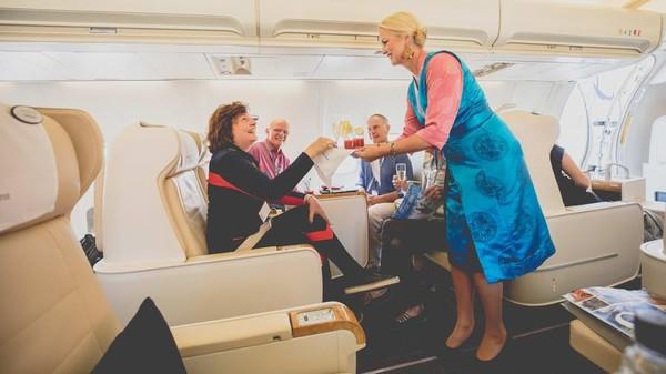 Ada tiga pesawat dariAbercrombie & Kent yang setiap tahun terbatas untuk 50 penumpang. Temanya berfokus pada budaya dan alam (Foto: CNN)