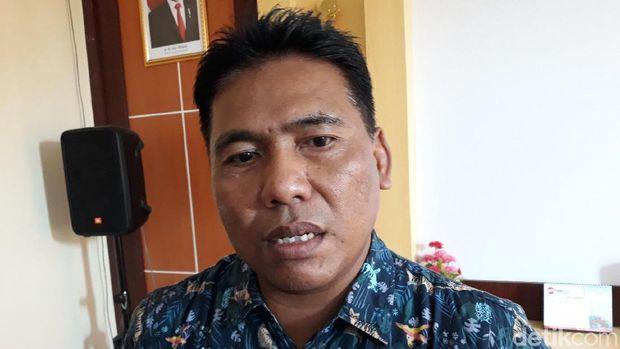 Kasie Objek Destinasi Wisata Dinas Pariwisata Kabupaten Bantul, Joko Wintolo saat memberikan keterangan.