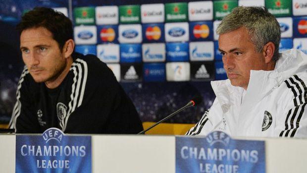 Frank Lampard pernah dilatih Jose Mourinho.