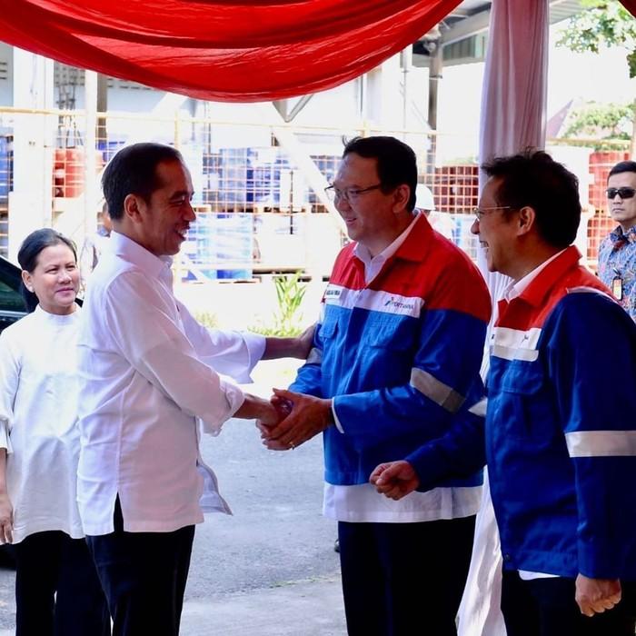 Jokowi bertemu Ahok di Kilang TPPI (Instagram basukibtp)