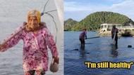 Wanita 104 Tahun Ini Masih Aktif Sebagai Nelayan Demi Keluarga