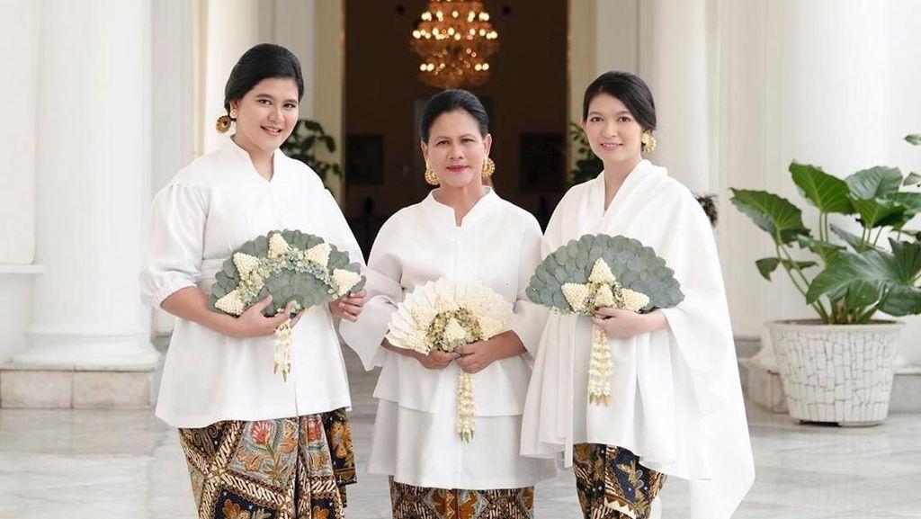 Cantiknya Iriana Jokowi, Kahiyang dan Selvi Ananda Saat Pemotretan Bersama