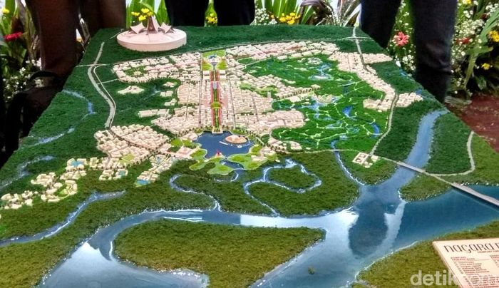 Menteri Pekerjaan Umum dan Perumahan Rakyat (PUPR) Basuki Hadimuljono menyaksikan pengumuman pemenang desain ibu kota negara (IKN) baru dalam sayembara di Kementerian PUPR, Jakarta, Senin (23/12/2019).