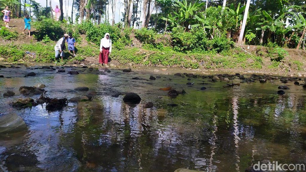 Semangat Pelajar Cianjur Nekat Terobos Sungai Demi Sekolah