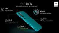 Spesifikasi & Harga Mi Note 10, yang Masuk RI 4 Januari 2020