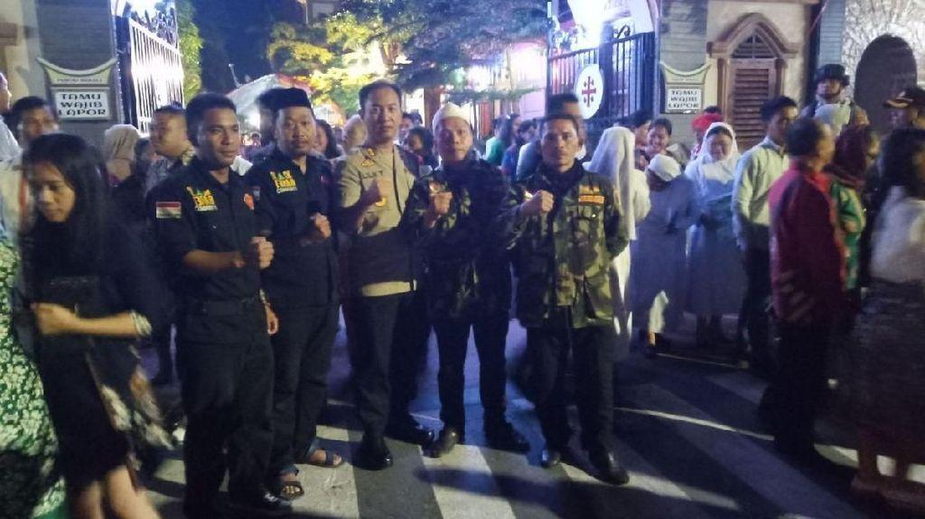 Banser NU Ikut Jaga Malam Natal di Tana Toraja