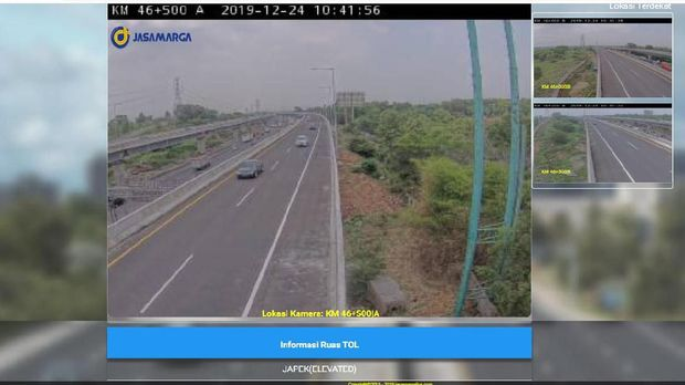 Sebelum Lewat Tol Layang Japek, Bisa Cek Lalu Lintas di CCTV Ini